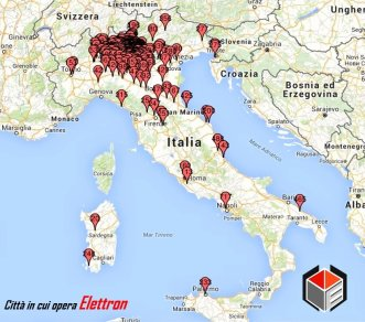 mappa impianti installati Elettron Italia