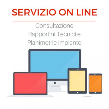Servizio Online consultazione rapportini tecnici e planimetrie