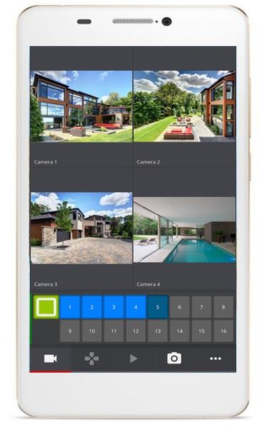 Smartphone gestione telecamere elettron - App per antifurto casa ...